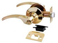 Дверная ручка-кноб HK-04 WC SG/GP матовое золото/золото