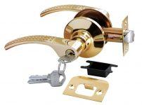 Дверная ручка-кноб HK-04 L SG/GP матовое золото/золото