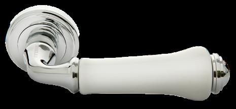 Модель Дверная ручка MH-41-CLASSIC PC/W хром/белый