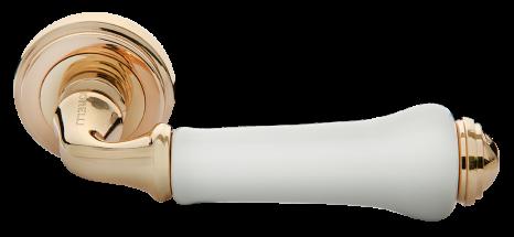 Модель Дверная ручка MH-41-CLASSIC PG/W золото/белый