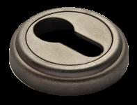 Накладки на ключевой цилиндр MH-KH-CLASSIC OMS старое античное серебро